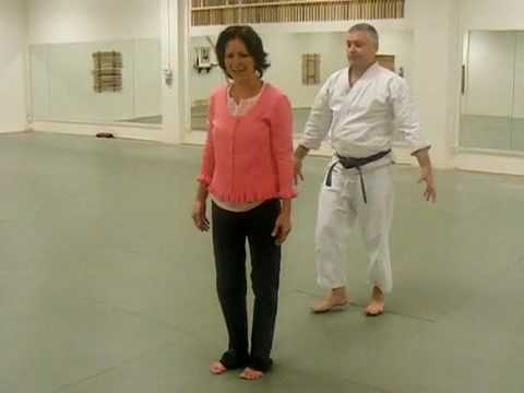 Aikido Self Defense for Women, Penny Bernath  Video #1: Defense Against Bear Hug