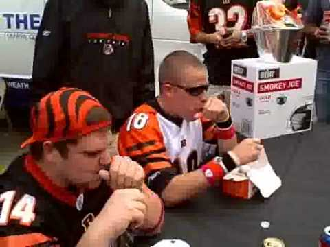 Dunkin Donuts Munchkin eating contest at Bengals vs. Colts!
