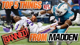 TOP 5 Things the NFL BANNED From Madden!