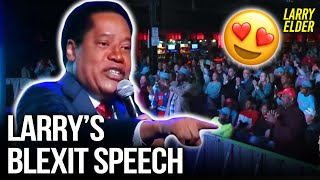 Larry Elder Speaks at Candace Owens's Blexit Event in Charlotte