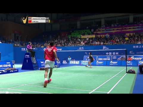 [HD] R32 - MS - Lin Dan vs Thammasin Sitthikom - 2014 China Masters Grand Prix Gold