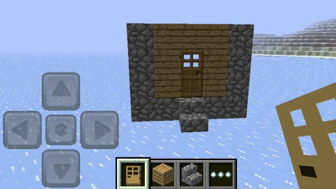 how to make a village house in minecraft pe