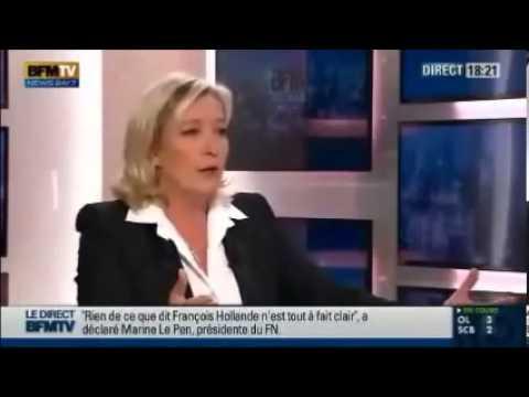 Marie Le Pen face au president de L'algerie Bouteflika 2013