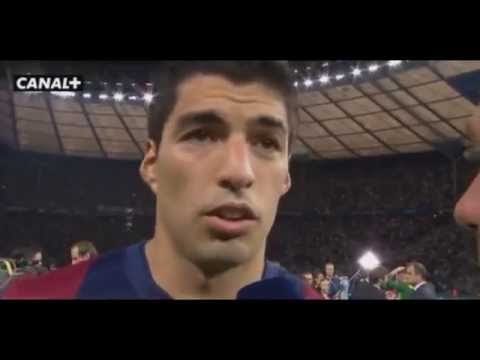 Luis Suarez ~ Post Match Interview After UEFA Champions League 2015 Final 07/06/2015|HD