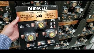 Costco! Duracell 500 Lumen Head Lamps 3 Pack! $19!