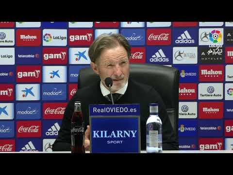 Rueda de prensa de Anquela tras el Real Oviedo vs AD Alcorcón (1-0)