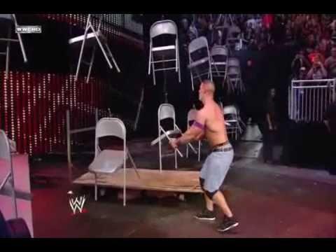 Wwe Tlc 2010 John Cena Vs Wade Barrett (chairs Match) Highlights video
