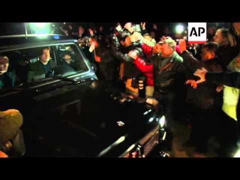 Former Prime Minister Yulia Tymoshenko released from prison