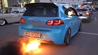 VW Golf R MK6 with 2-STEP ANTI-LAG!! - INSANE Flames & Bangs @ Wörthersee 2019 *MUST SEE*