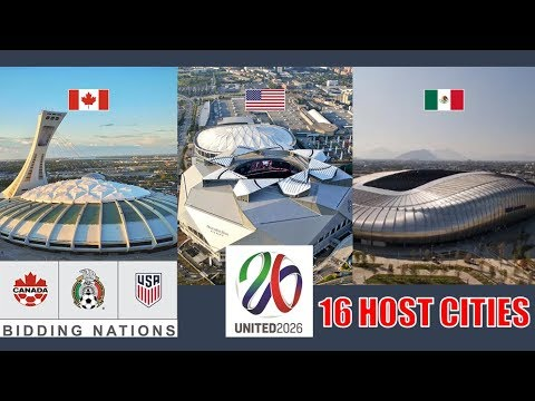 UNITED 2026 North America World Cup | Stadiums and 16 Host Cities