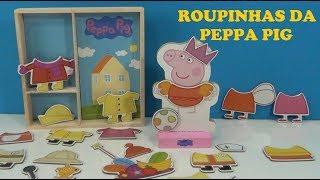 Peppa Pig e as roupinhas magnéticas - Ímã que gruda  #peppapig #roupasmagneticasdaPeppa