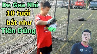 Thử thách bóng đá sút Penalty với Bùi Tiến Dũng Nhí U23 Việt Nam tương lai