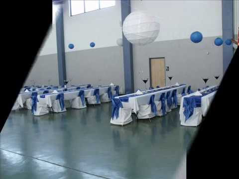 Foas Events decoracion armory azul royal en el armory de gresham ...