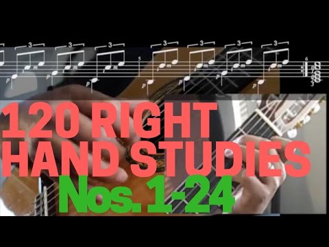Джулиани Мауро - 120 Right-hand Studies Studio Per La Chitarra
