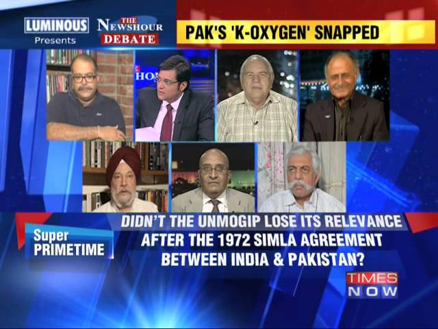 The Newshour Debate: India to UN: We can handle Kashmir - Part 1 (11th July 2014)