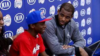 Chris Paul and Blake Griffin: Make a Wish Foundation