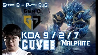 GEN CuVee MALPHITE vs CAMILLE Top - Patch 8.16 KR Ranked