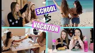 SCHOOL MORNING ROUTINE vs VACATION MORNING ROUTINE!
