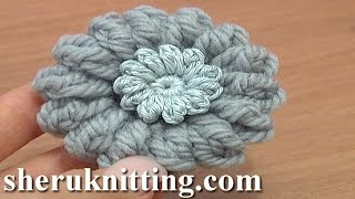 How to Crochet Round Button Tutorial 1 Double Crochet Upside Down Y Stitch