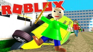 "PLAY AS ""PLAYTIME BALDI"" AND STEAL A SCHOOL VAN?! | Baldi's Basics RP Roblox"