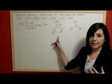 QUIMICA Enlace Ejercicio 7 Estructura de Lewis aniones carbonato, sulfato, nitrato, nitrito...