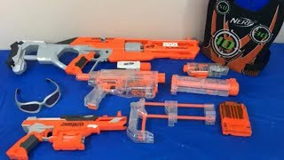 Box of Toys Toy Guns NERF Guns Accustrike Toy Weapons
