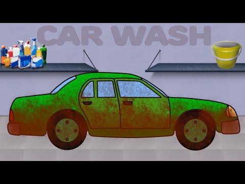 Машинки. Автомойка. Мультики про Легковой Автомобиль. Car Wash. Videos for children