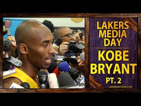 Lakers Media Day 2014: Kobe Bryant (PT. II) Talks Derek Jeter, Managing Minutes
