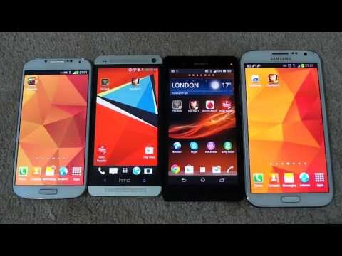Samsung Galaxy S4 Vs Samsung Galaxy Note 2 Vs Htc One Vs Sony Xperia Z: Which one is Android King
