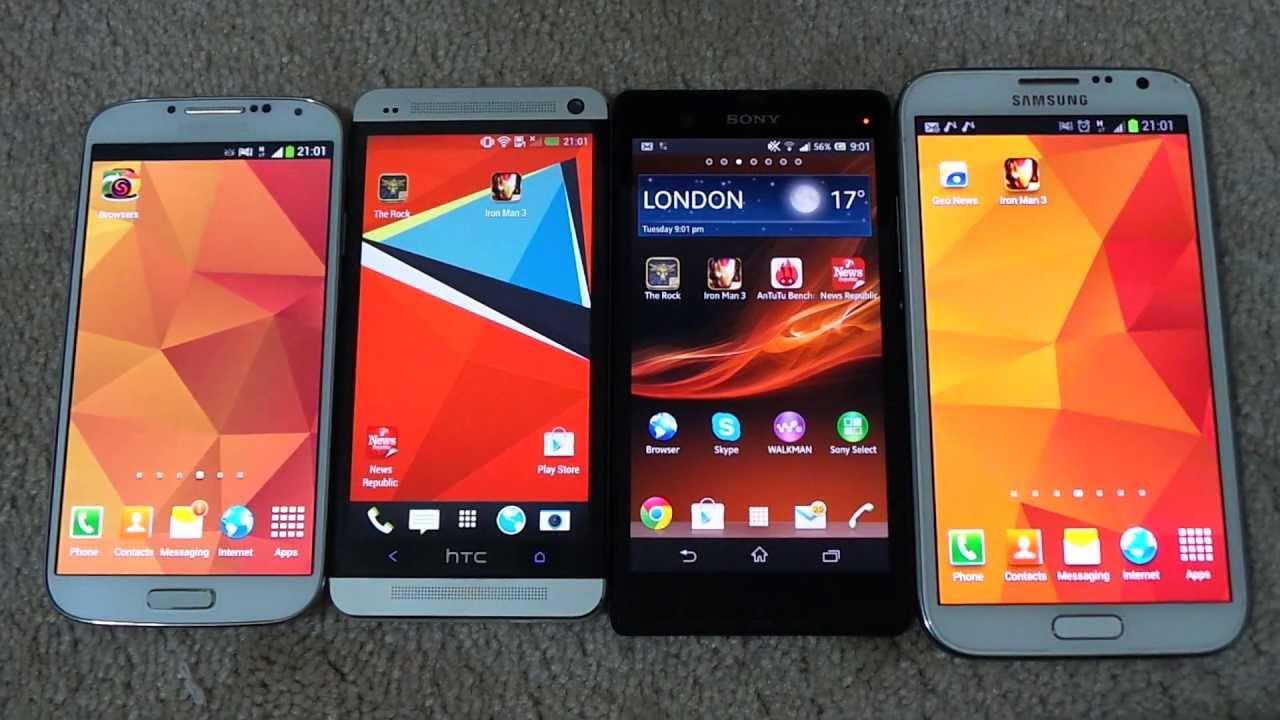 Xperia Z Vs Galaxy S4 Vs Iphone 5 Samsung Galaxy S4 Vs Samsung