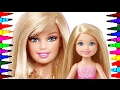 Barbie And Chelsea BEST LEARNING Coloring Book L Page For Children Learning Rainbow Colors Videos mp3