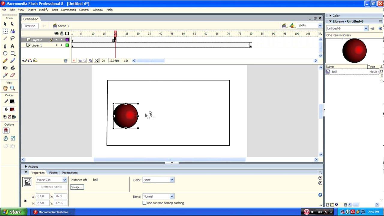 Как сделать кнопку в macromedia
