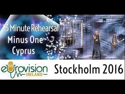 Eurovision 2016: Second rehearsal of Minus One from Cyprus with 'Alter ego'