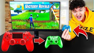 Every time i die i CHANGE to a SMALLER Controller in Fortnite