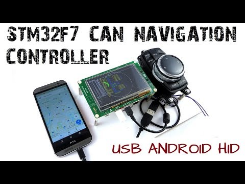 STM32F7 CAN Navigation Controller USB Android HID Music Control