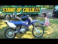 TEACHING MY GIRLFRIEND HOW TO RIDE A DIRTBIKE!!!