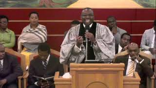 Pastor Warner Richards at the Shiloh SDA Church