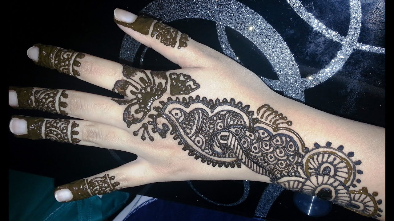 Mehndi Designs Upload : Simple arabic henna fusion style mehndi design