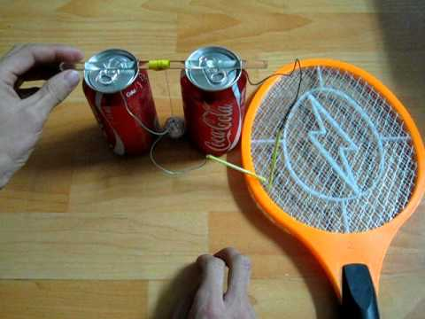Electric Fly Swatter + Coke can = Franklin s bell