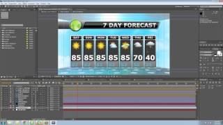After Effects Weather Television Broadcast Template