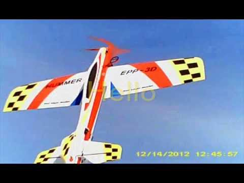 Hobbyking HUMMER EPP 1000mm Red Eagle model with Eagle A3 Pro gyro maiden flight 3D acro #2.