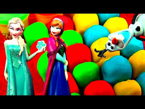 Disney Frozen Play-Doh Surprise Eggs Cars 2 Mickey Mouse Peppa Pig Angry Birds D