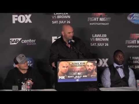 UFC Fight Night on FOX 12 PostFight Press Conference FULL
