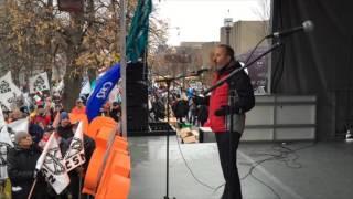 Discours de Daniel Boyer lors de la manifestation du Front commun à Québec le 12 novembre 2015