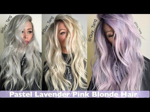 Pastel Lavender Pink Blonde Hair make-over