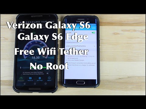 Verizon Galaxy S6 / Edge FREE Wifi Tether No Root