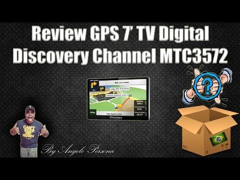 Review GPS Discovery Channel Aquarius MTC3572 Slim Tela 7.0 TV Digital - Portugues BR