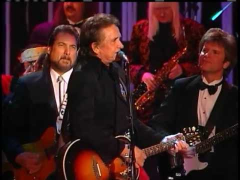 "Johnny Cash Performs ""Big River"" at the 1992 Hall of Fame Inductions"