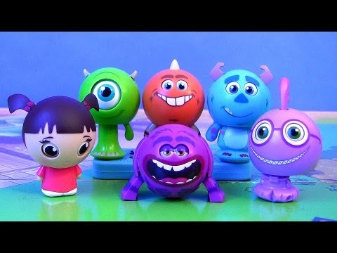 6 Roll a Scare Monsters University Toys with Student ID Disney Pixar Monsters Inc. by Blucollection