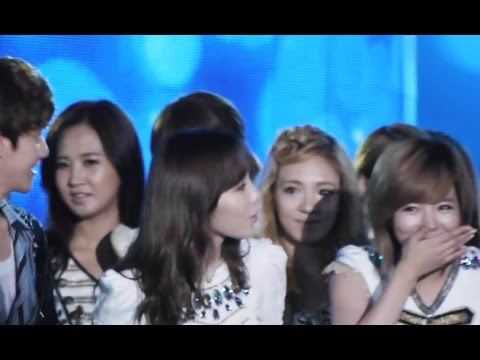 SNSD finds out if Baekhyun likes Taeyeon 120825